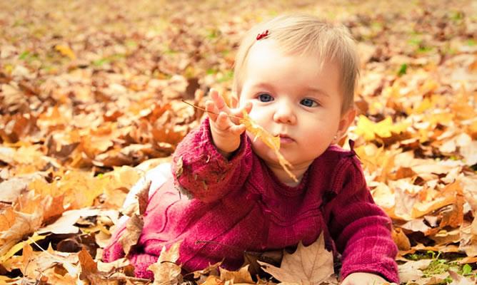 Cuidados y salud del niño en otoño
